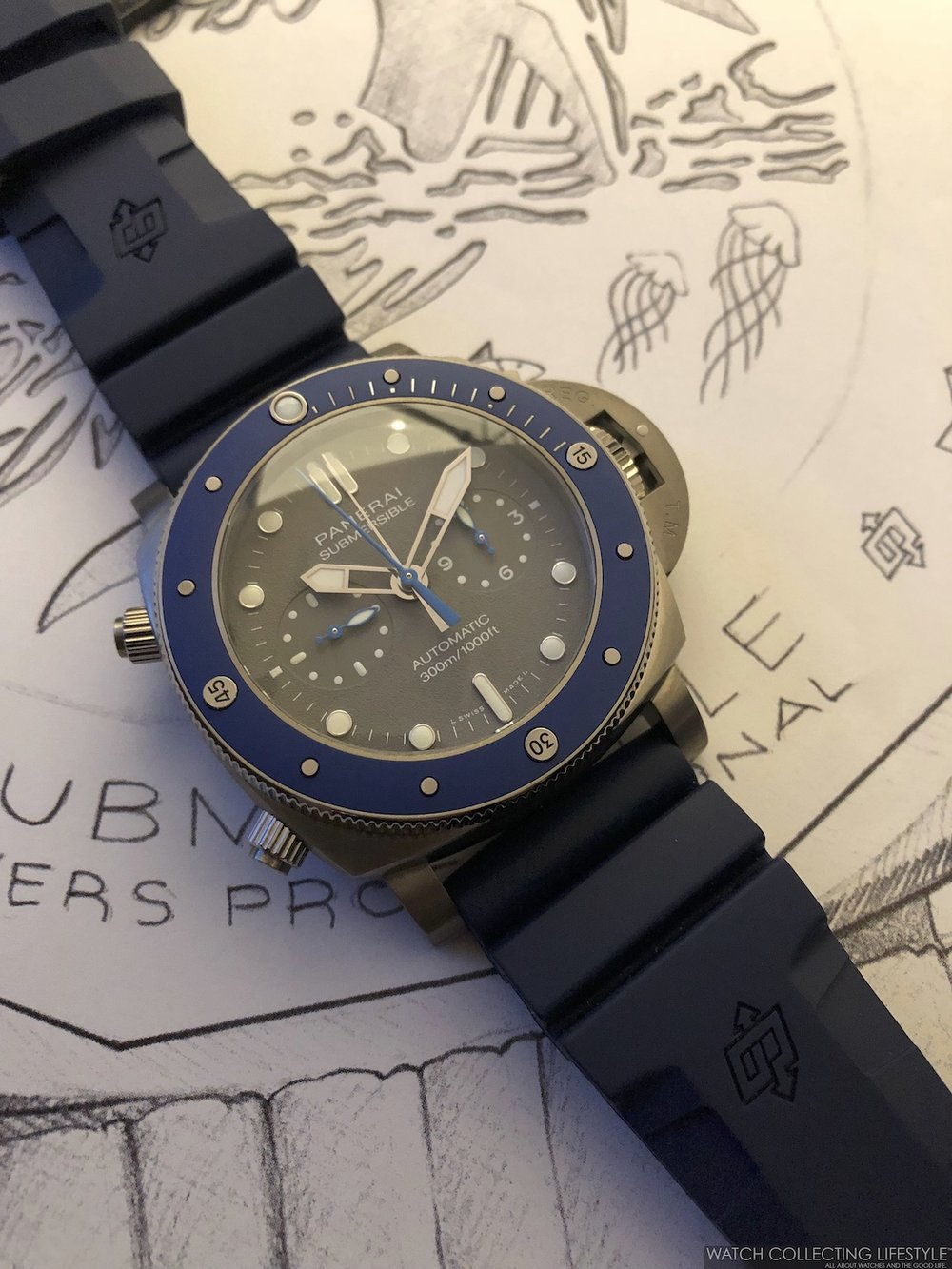 Panerai Submersible Chrono Guillaume Nery Edition 47 mm PAM982