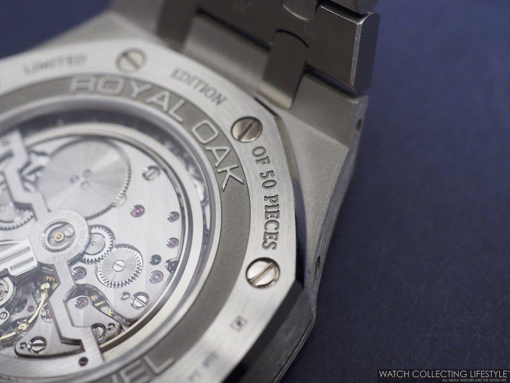 : Audemars Piguet Royal Oak Perpetual Calendar ref. 26574PT Ice Blue Case Back WCL