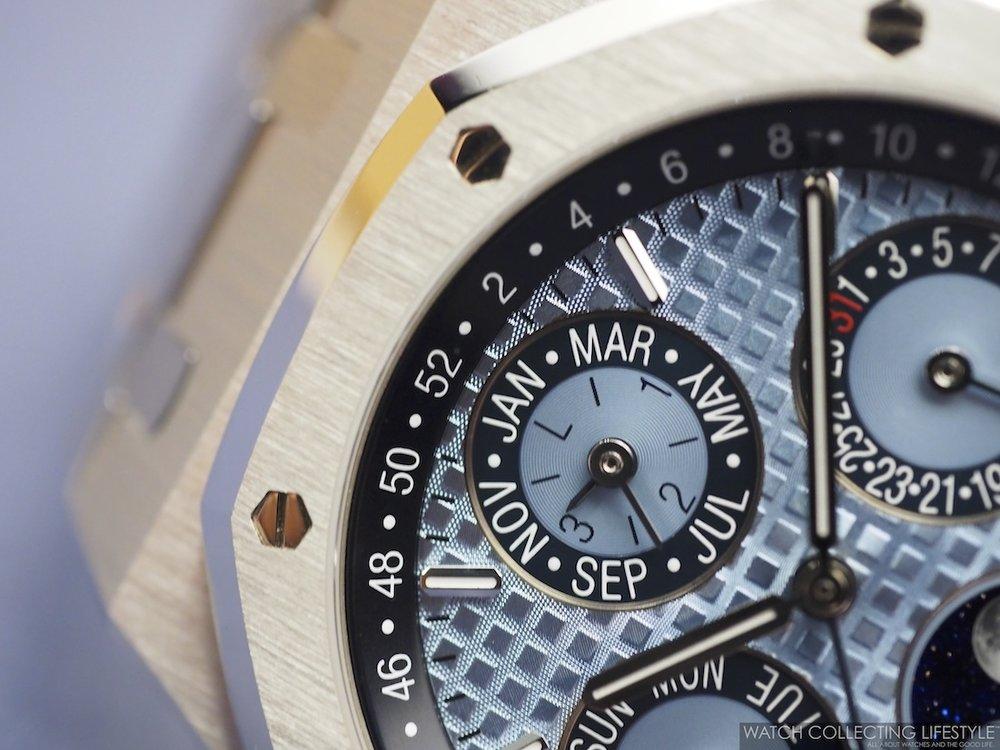 Audemars Piguet Royal Oak Perpetual Calendar ref. 26574PT Ice Blue Macro Dial