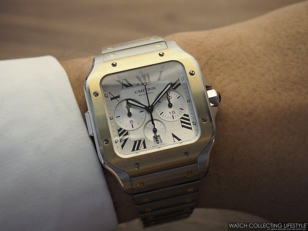 Santos de Cartier Chronograph WCL Wristshot