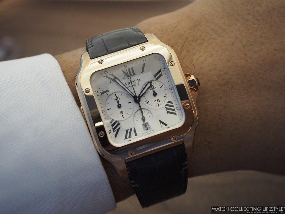 Santos de Cartier Chronograph WCL Wristshot on Strap