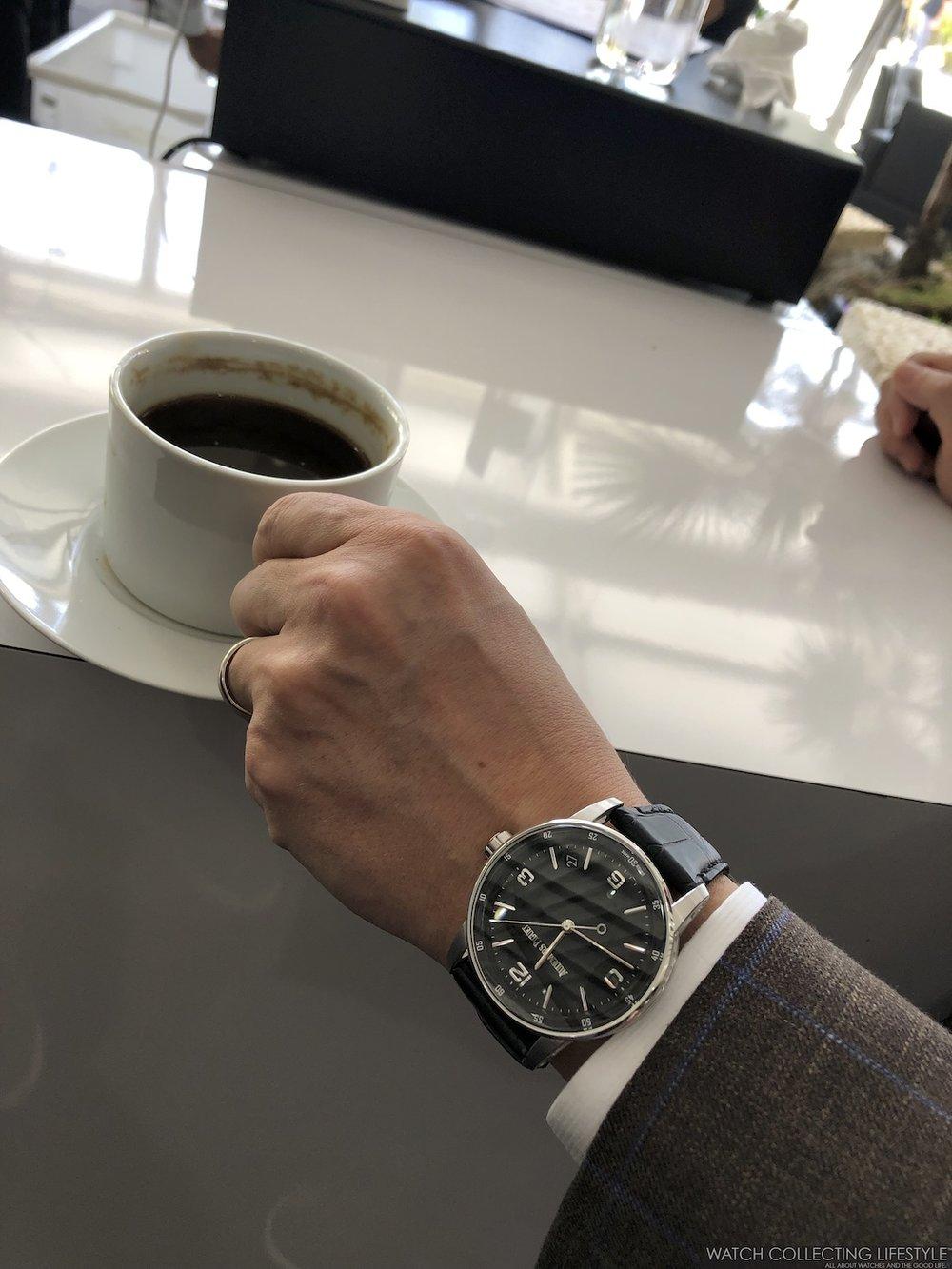 Audemars Piguet CODE 11.59 Date Model on wrist