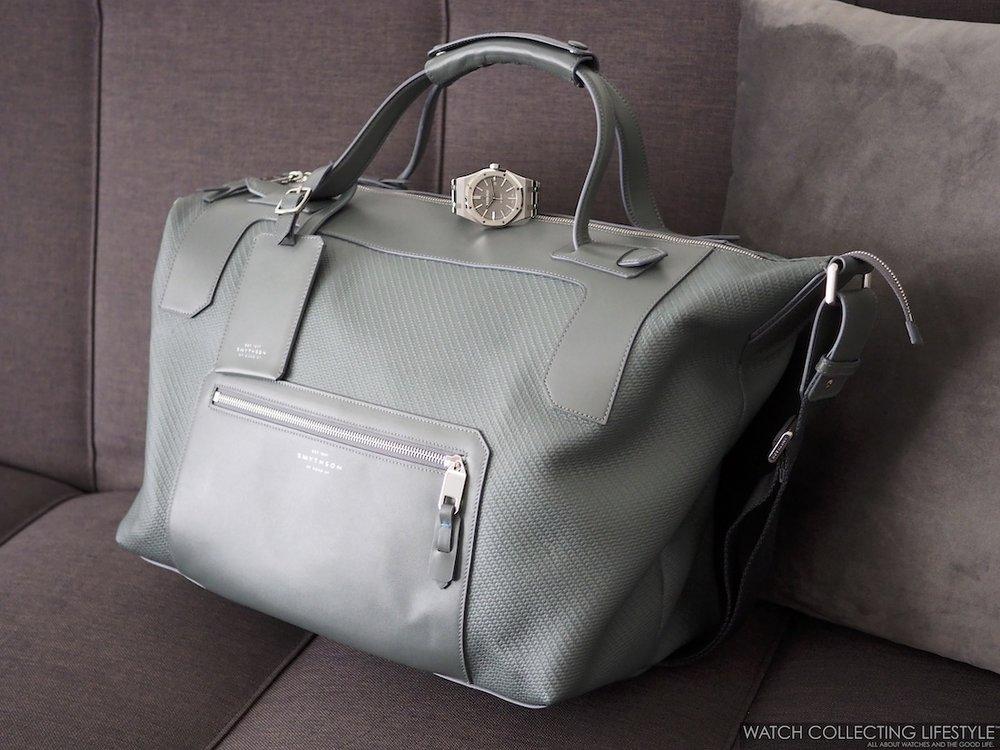 Smythson Greenwich Medium Holdall Bag