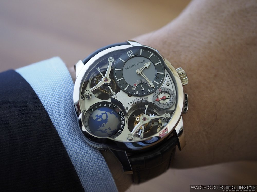 Greubel Forsey GMT Quadruple Tourbillon Wristshot