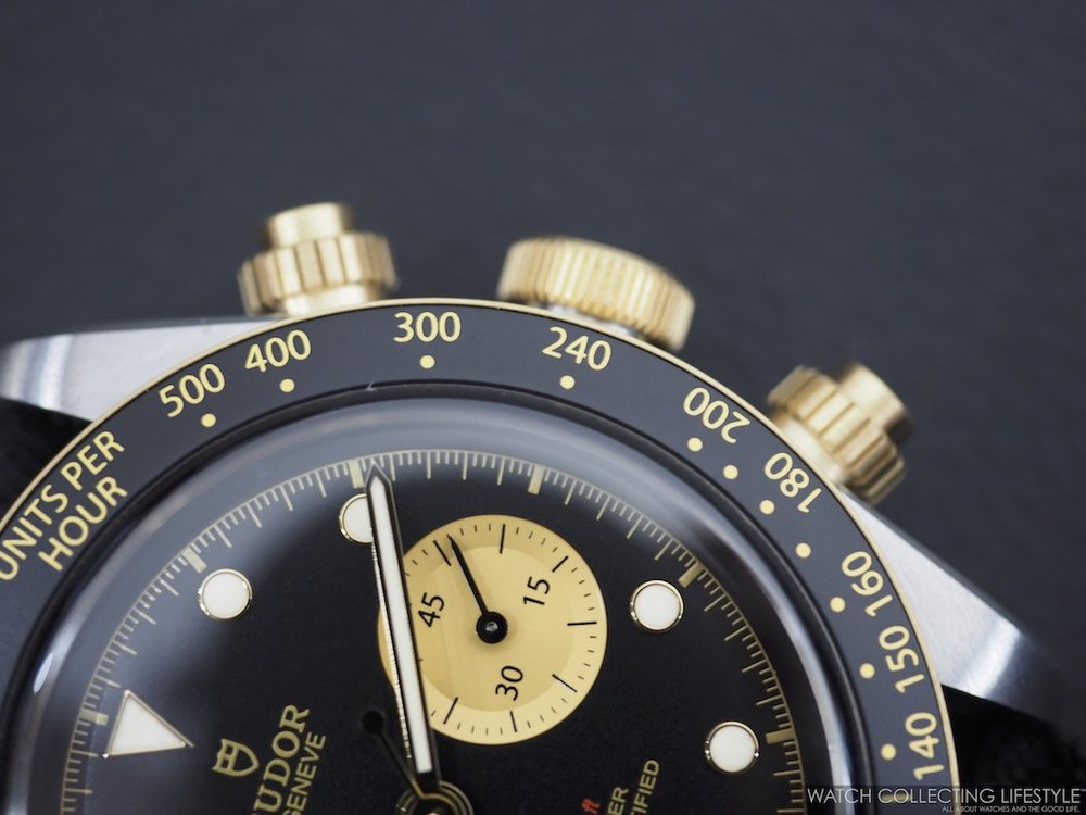 Tudor Black Bay Chrono Steel & Gold ref. MT5813 Bezel