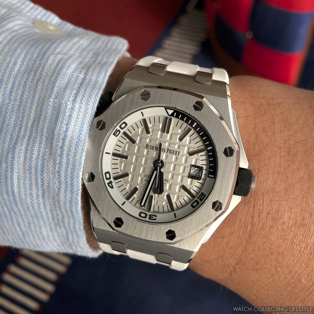 Royal Oak Offshore Diver Silvery White Dial