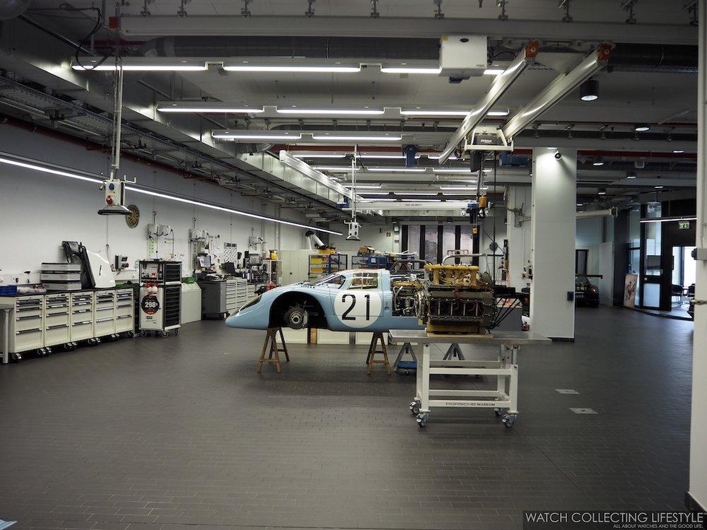 Porsche Restoration Shop at the Porsche Museum