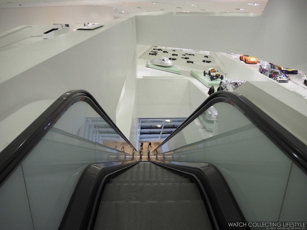 Porsche Museum Escalators