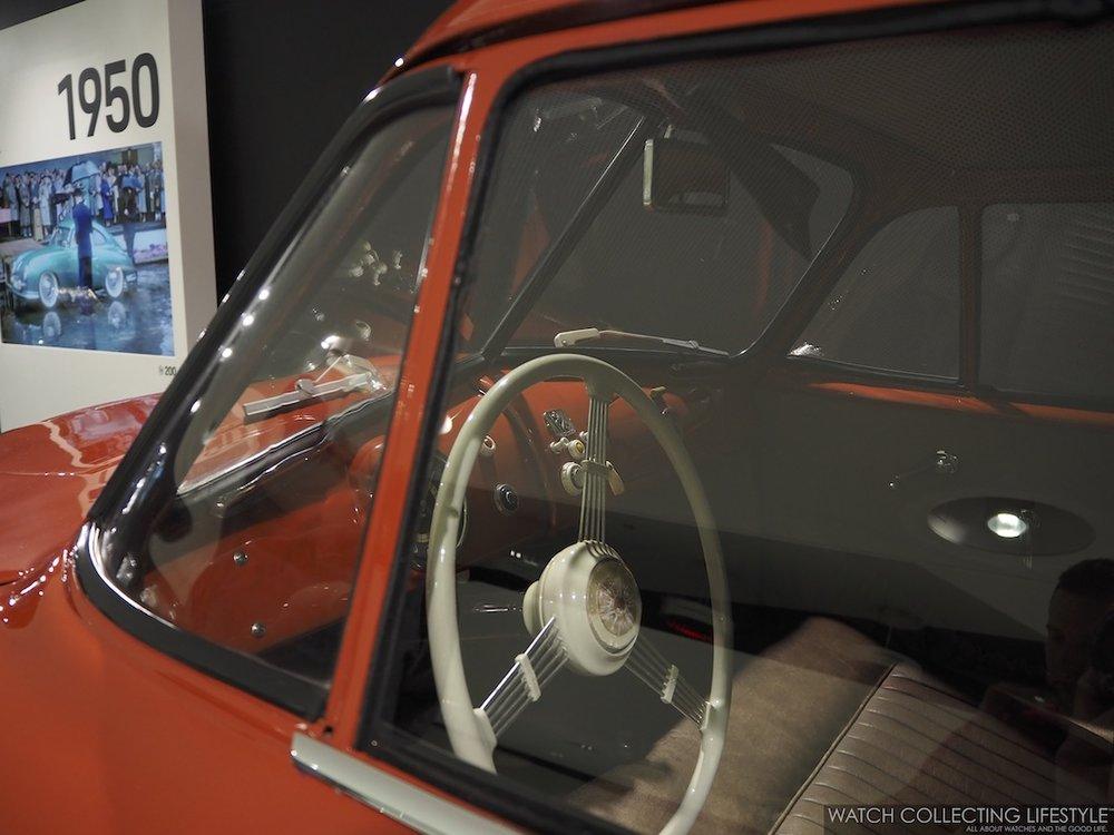 Christophorus Plaque on Porsche 356 Dashboard