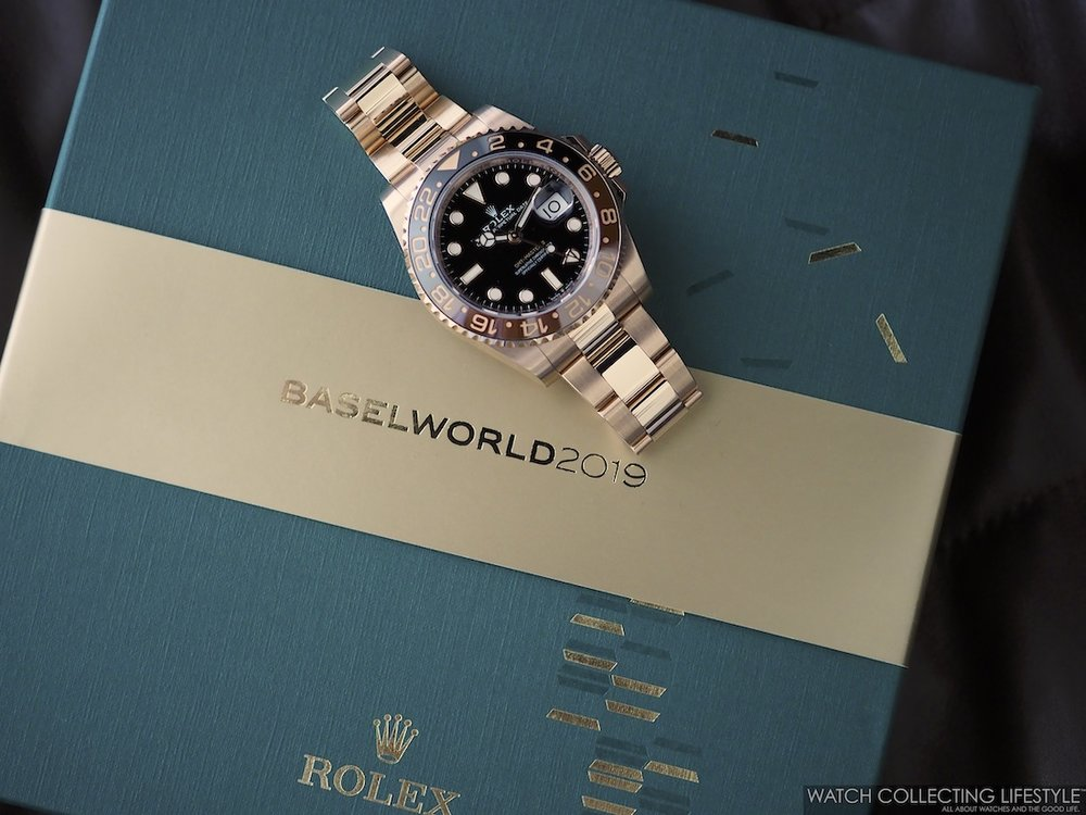Rolex Baselworld Chocolates and GMT Master II Everose Rootbeer