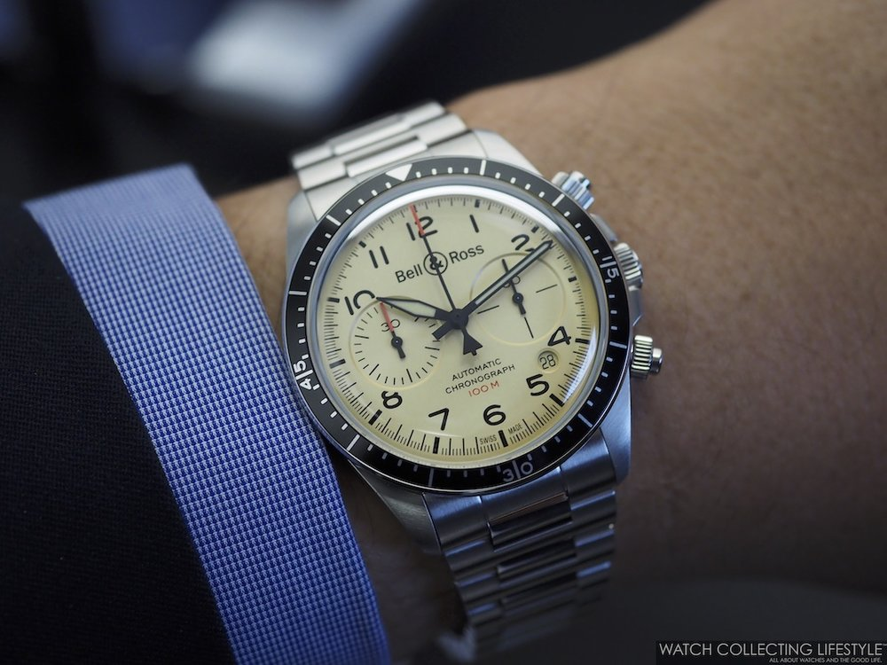 Bell & Ross BR V2-94 Military Beige Chronograph Wristshot WCL