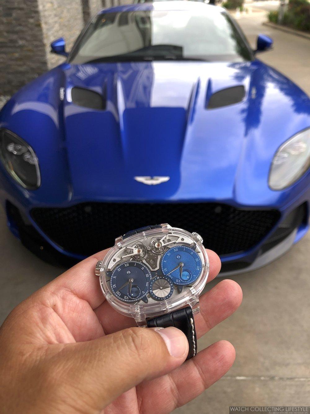 Aston Martin DBS Superleggera and Armin Strom WCL