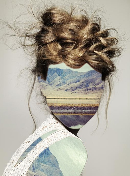 "Erin Case: ""Haircut 1"", (with  Andrew Tamlyn). 2012, Digital Assemblage / Collage"