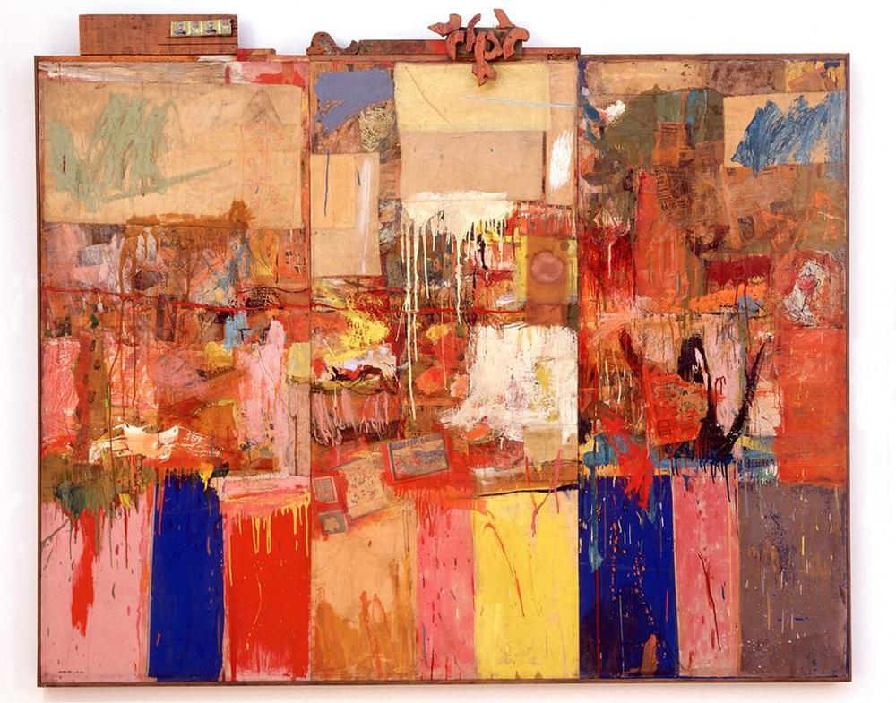 """Robert Rauschenberg, """"Collection"""". 1954/55"""