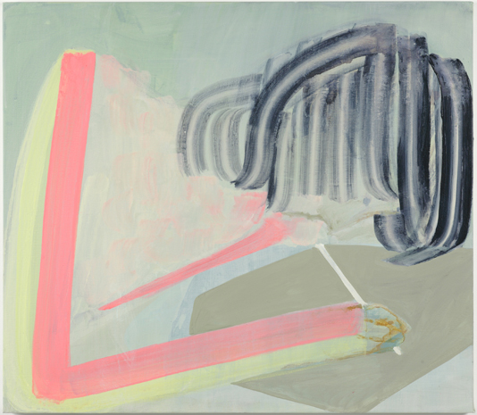 TURN TO PASTEL, 2008 Acrylic on linen 27 1/2 x 31 1/2 inches
