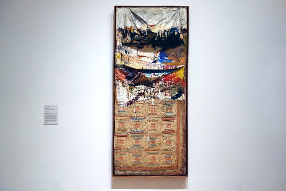 """Robert Rauschenberg, """"Bed"""", 1955."""