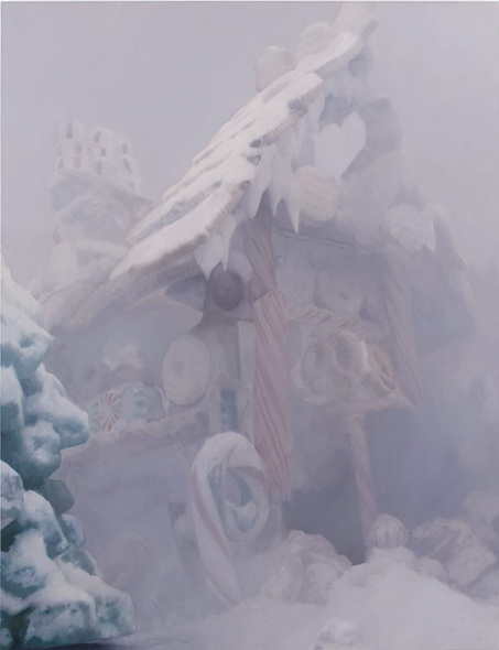 "Relic, 2007. Oil on linen. 65"" * 60"""