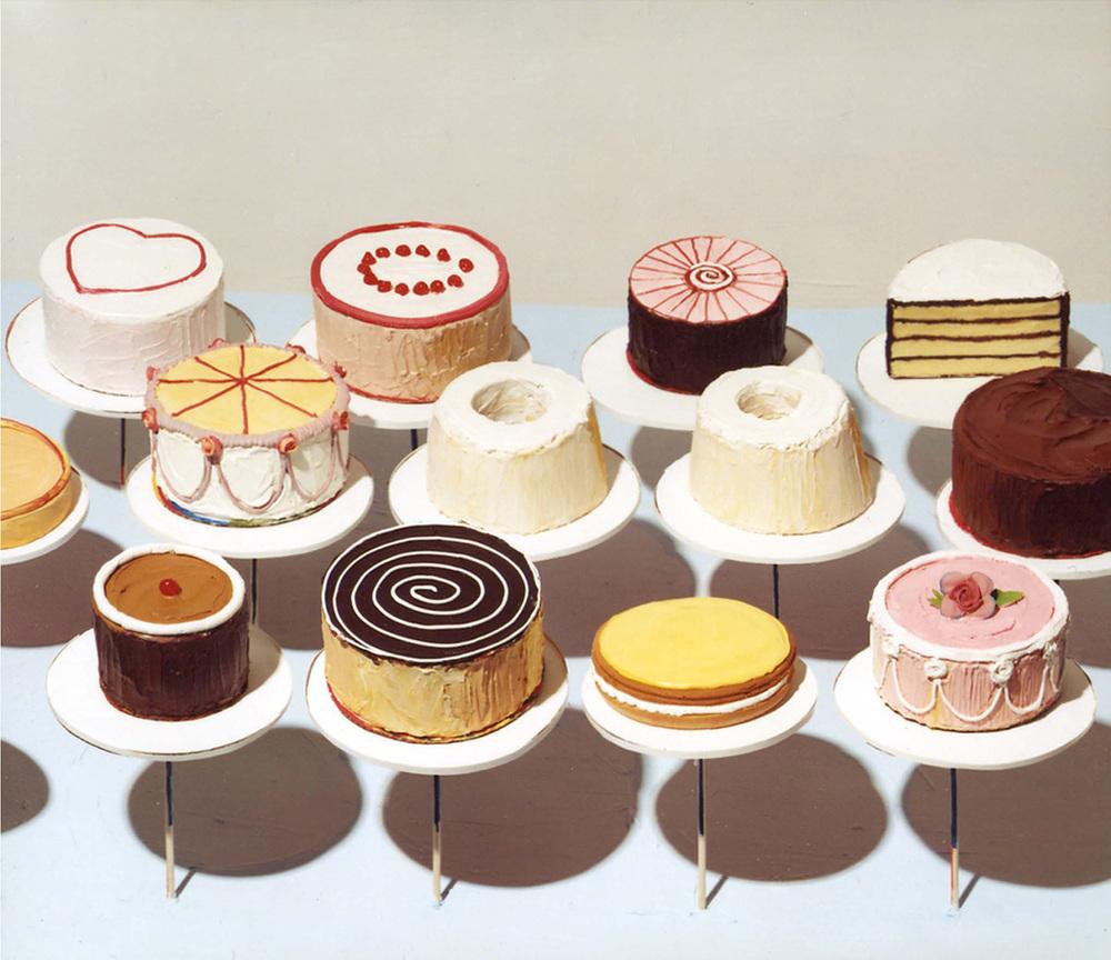 Wayne Thiebaud, Cakes , 1963