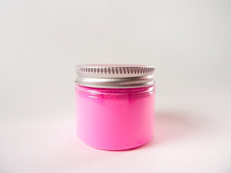 A jar of the world's pinkest pink paint pigment. (Stuart Semple)