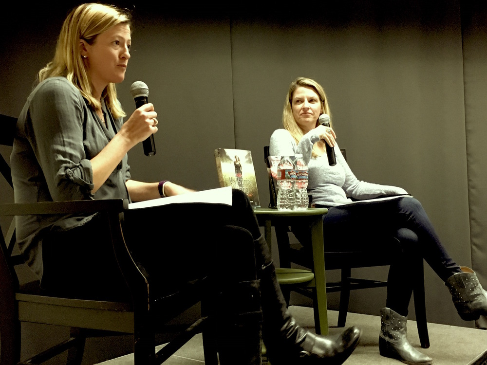 """in conversation"" with writer ingrid paulson last night at kepler's books in menlo park, ca"