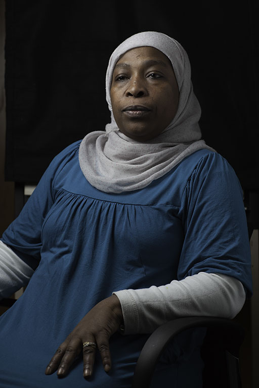 A member of the Justice for Domestic Workers ©Laurence Gibson
