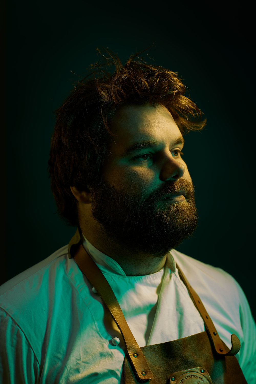 Portrait of Chef Douglas Robertson, London. ©Laurence Gibson.