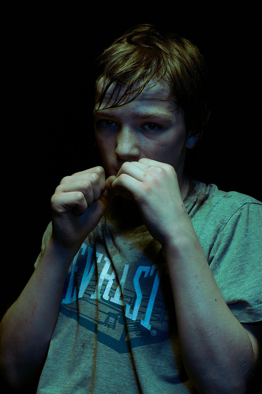 Portrait of Young Boxer, Glenavy Northern Ireland. ©Laurence Gibson