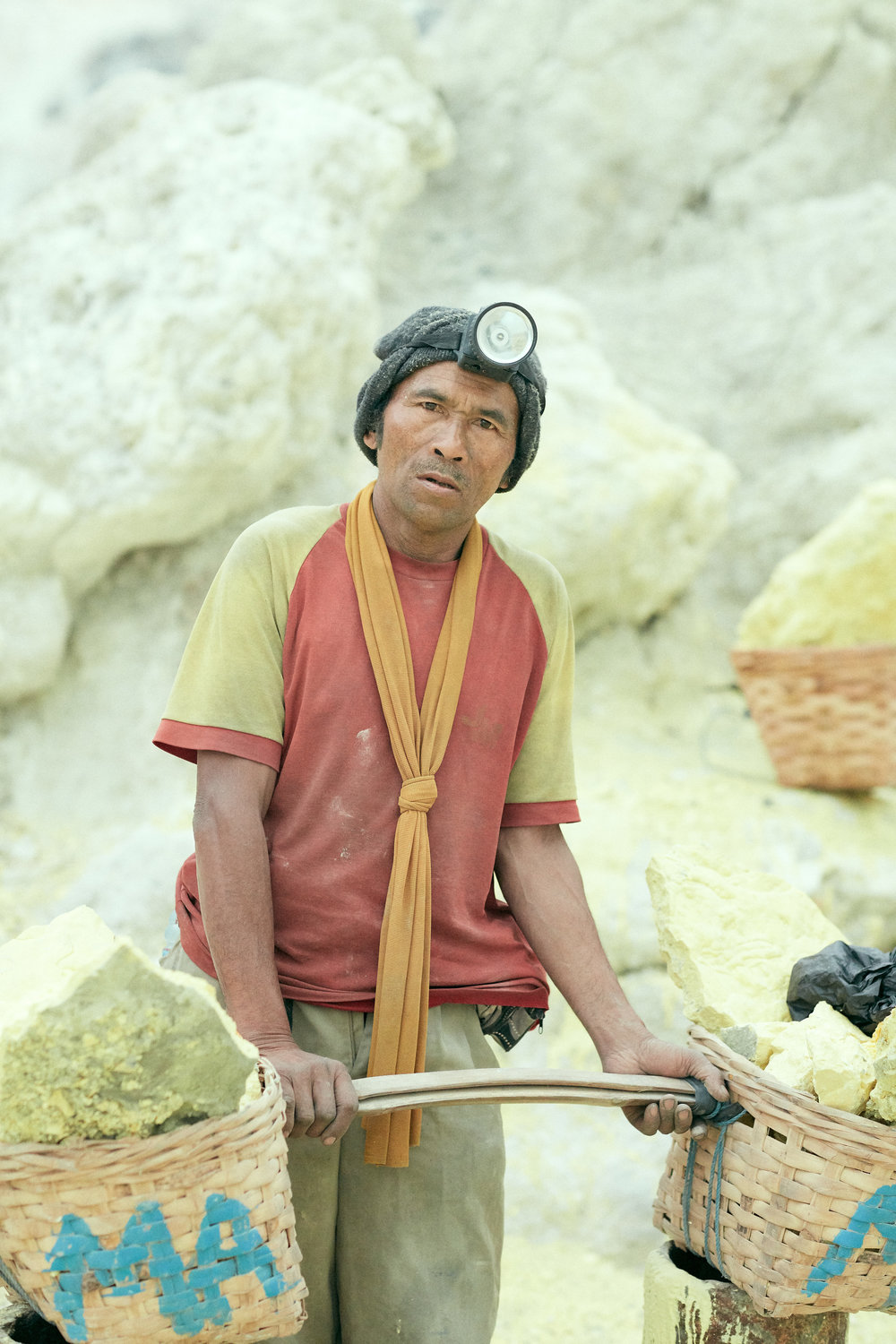 Miners of Ijen Crater