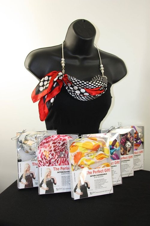 225ea0f5be2 6 PIECE ASSORTED BOXED GIFT SETS Kafari Scarf Necklaces Packed 6 to a case