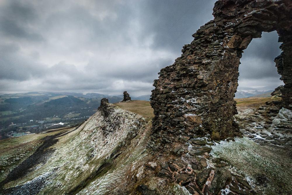 medieval castell dinas bran