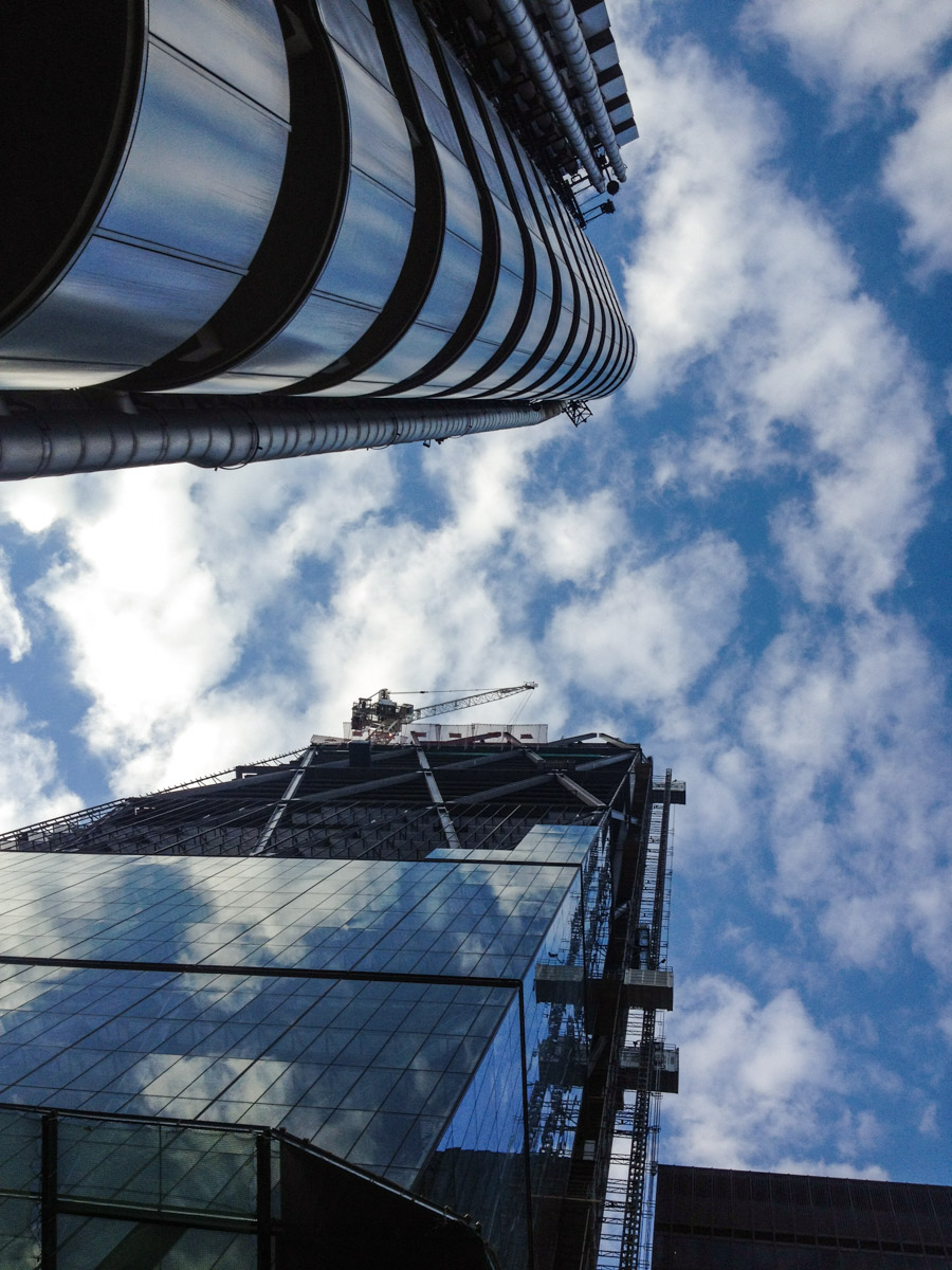 The new Cheesegrater dwarfs its famous neighbour The Lloyd's building