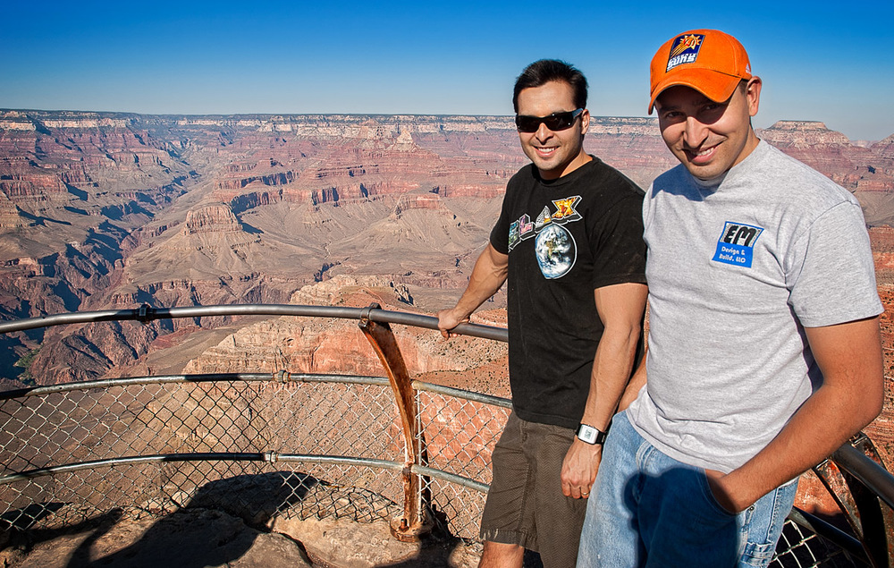My fellow trampers Stephen and Sam at Mather Point.
