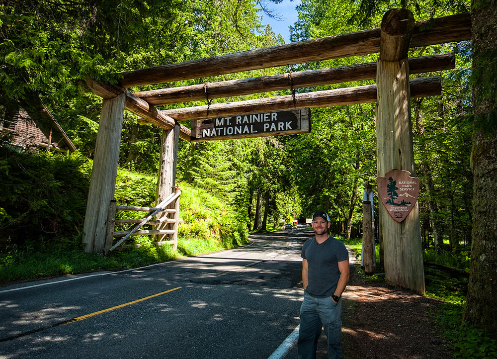 The southwestern entrance to Mt. Rainier National Park