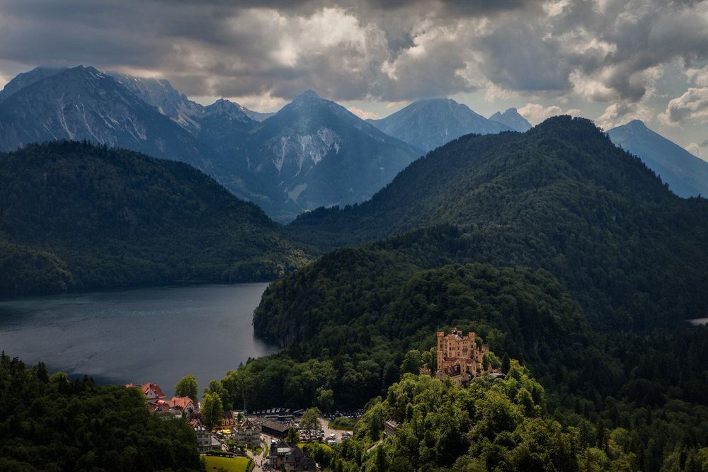 Daddy issues? View from Neuschwanstein of Schloss Hohenschwangau near the Alpsee.
