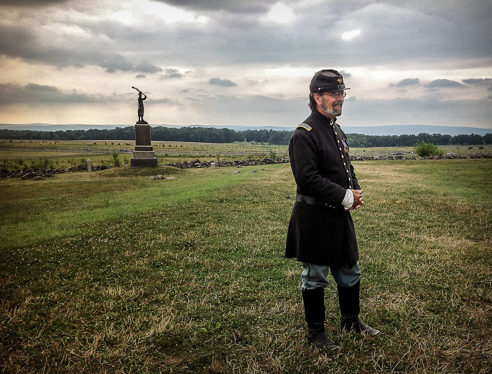 Union soldier re-enactor