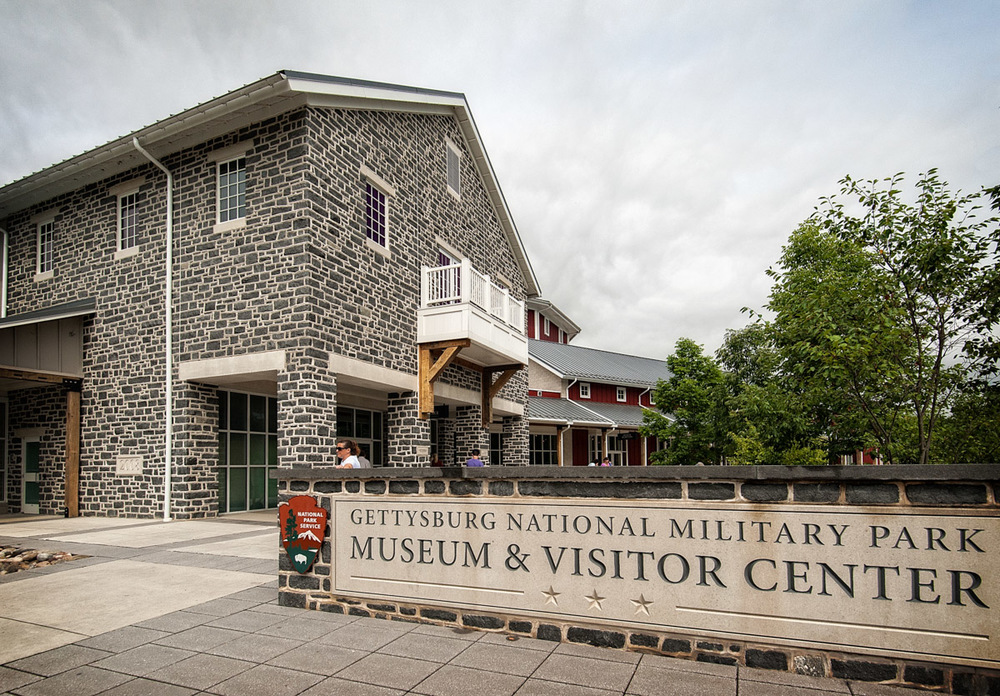 The museum at Gettysburg National Military Park.