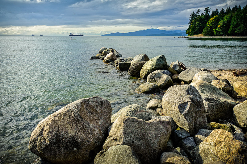 The view from Vancouver's Stanley Park.