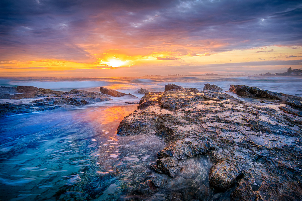 Currumbin Beach sunrise colours