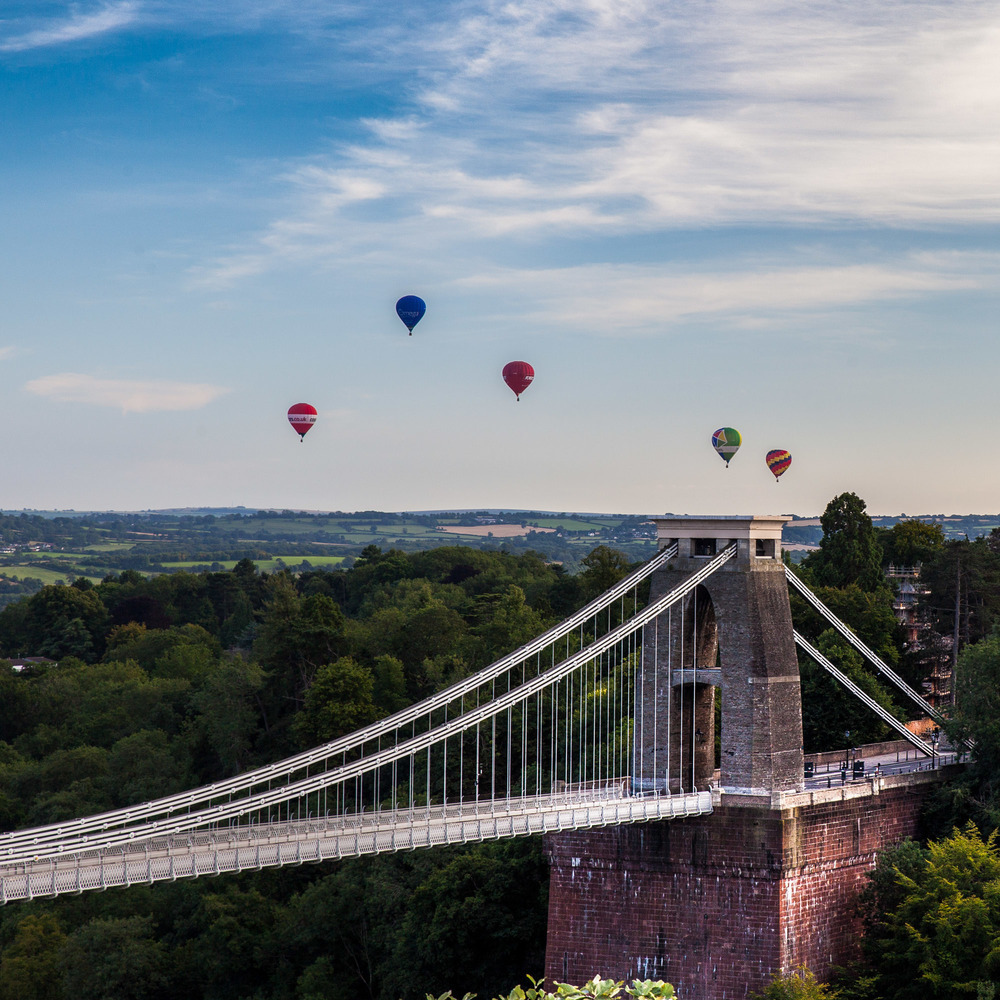 The Clifton Suspension Bridge plays host to the annual balloon festival.