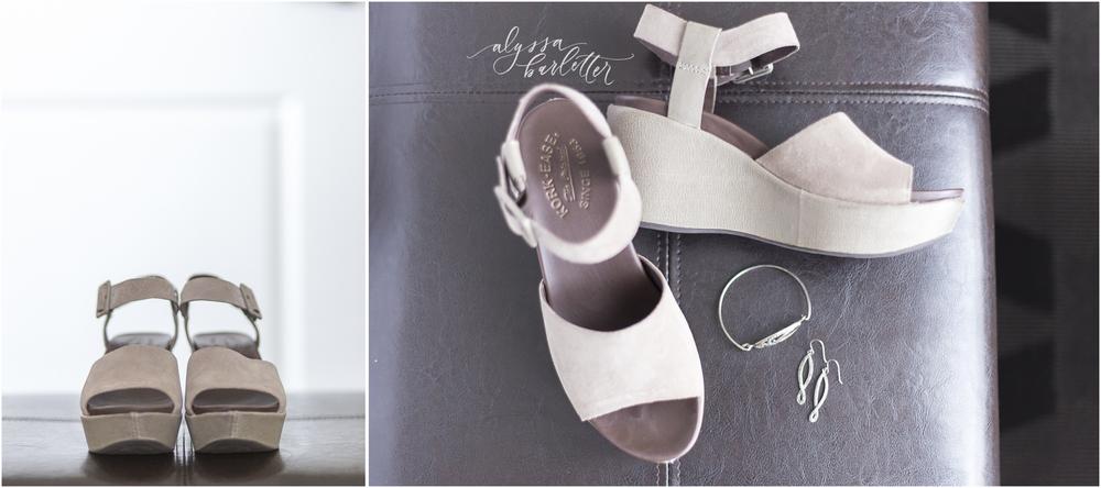alyssa barletter photography wedding details shoes