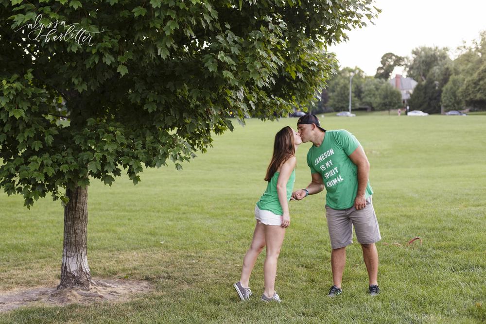 engagement photography kansas city loose park dog trees jameson