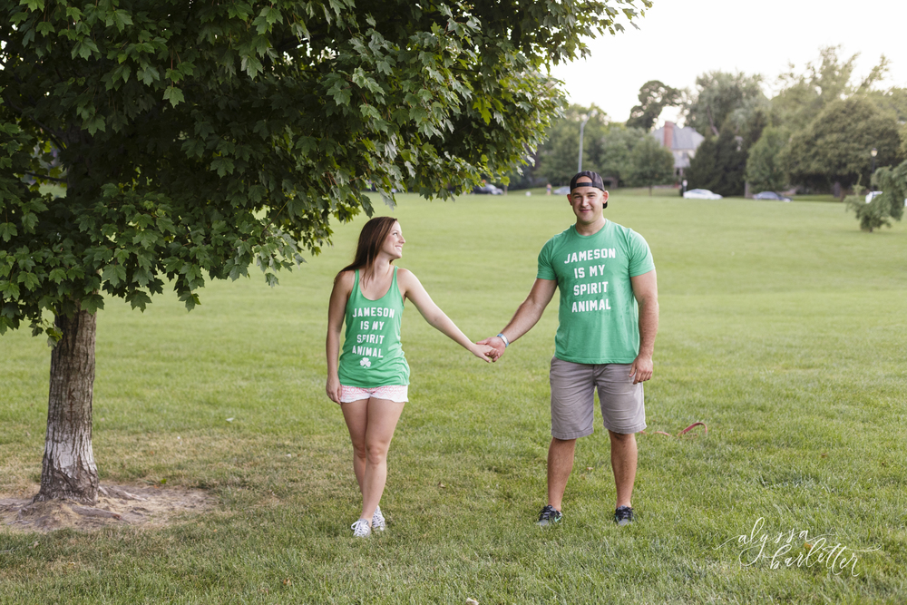 engagement photography kansas city loose park dog trees jameson