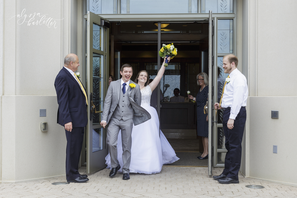 kansas city lds temple wedding grand exit
