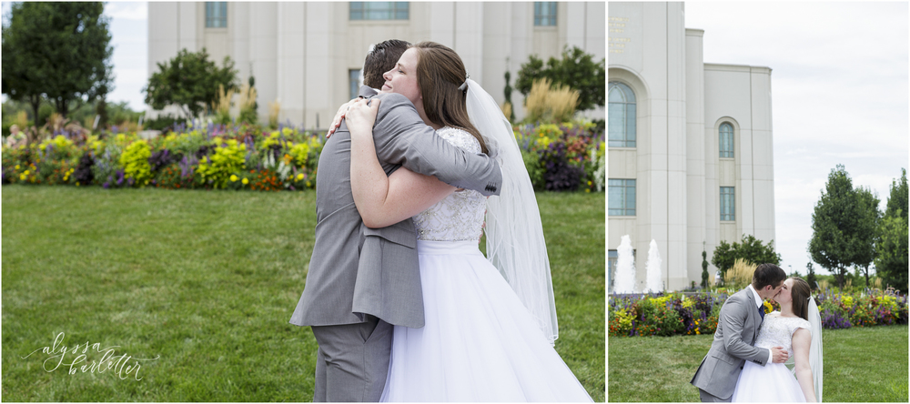 kansas city lds temple wedding bride groom