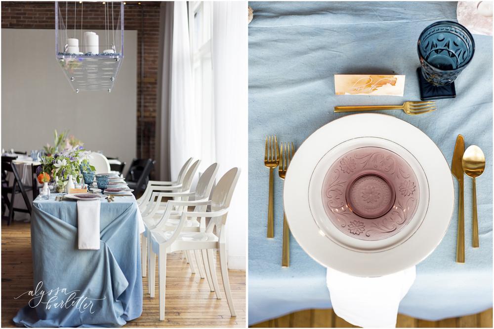 kansas city wedding photography centerpiece table reception berg head