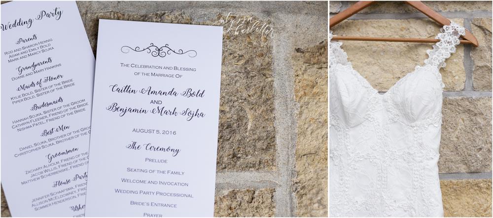 kansas city wedding budget mahaffie ceremony program dress