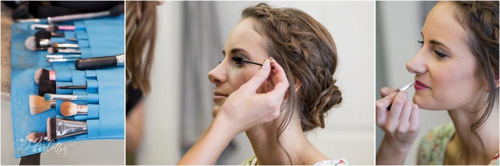 kansas city wedding budget bride getting ready makeup