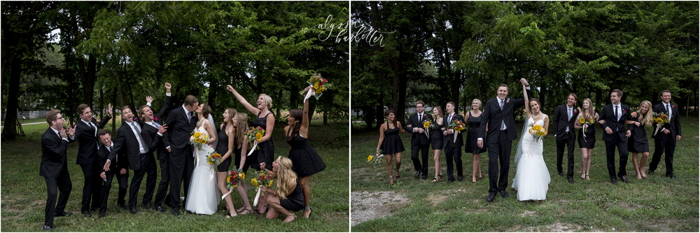kansas city wedding budget mahaffie bridal party black sunflower fun