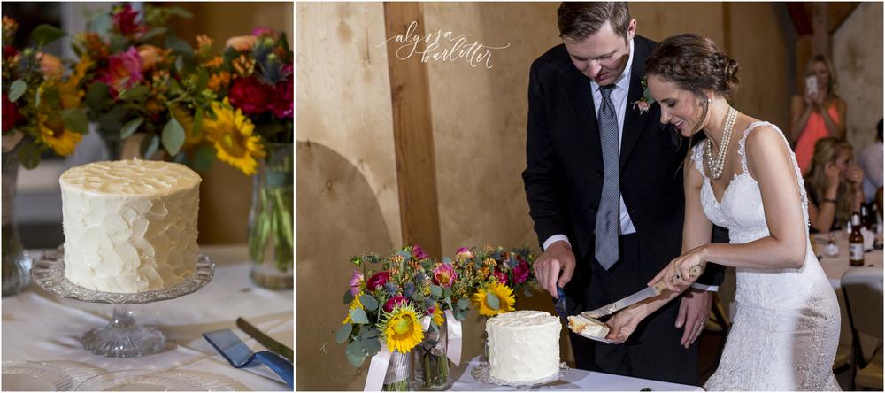 kansas city wedding budget mahaffie reception cake cutting bride groom