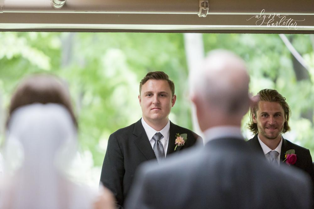 kansas city wedding budget mahaffie bride enterence groom ceremony